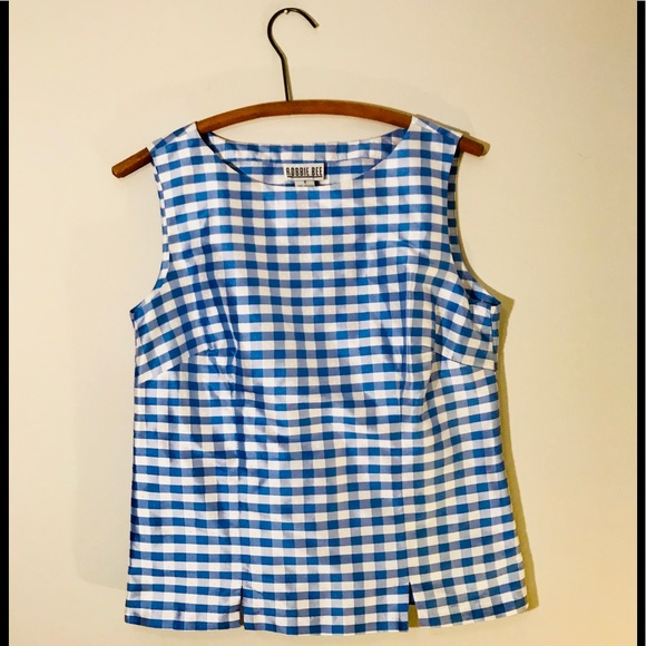 bbcde230b1da7f Vintage Retro 60 s Pin Up Gingham Tank Top. M 5ad7f327331627d36be54a2b